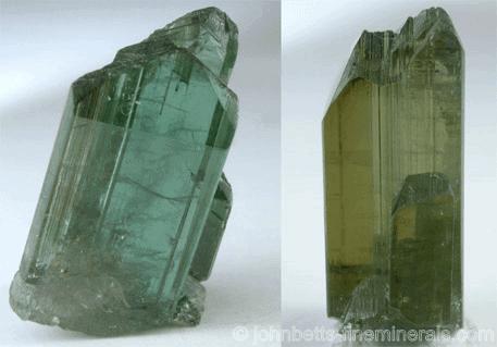 Cristal de tanzanita de color natural_