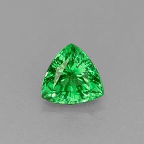 Granate Tsavorita Verde Brillante triangular