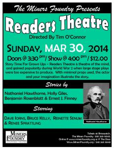 2014 03 13 POSTER for  READER's THEATRE