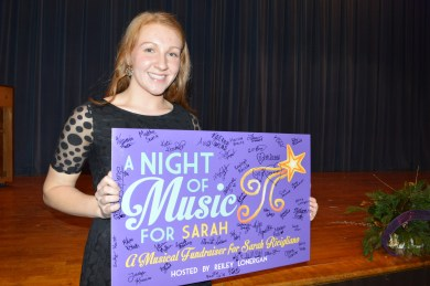 Reiley Lonergan at her fundraiser supporting Sarah Ricigliano.