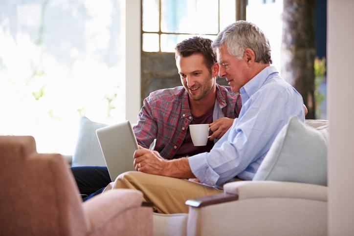 checklist to help organize parent's finances