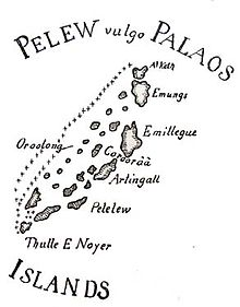 Old map of the Pulau Islands