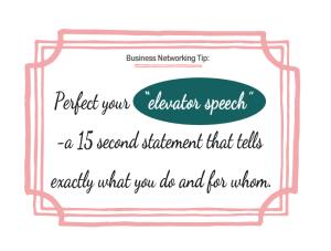 perfect your elevator speech