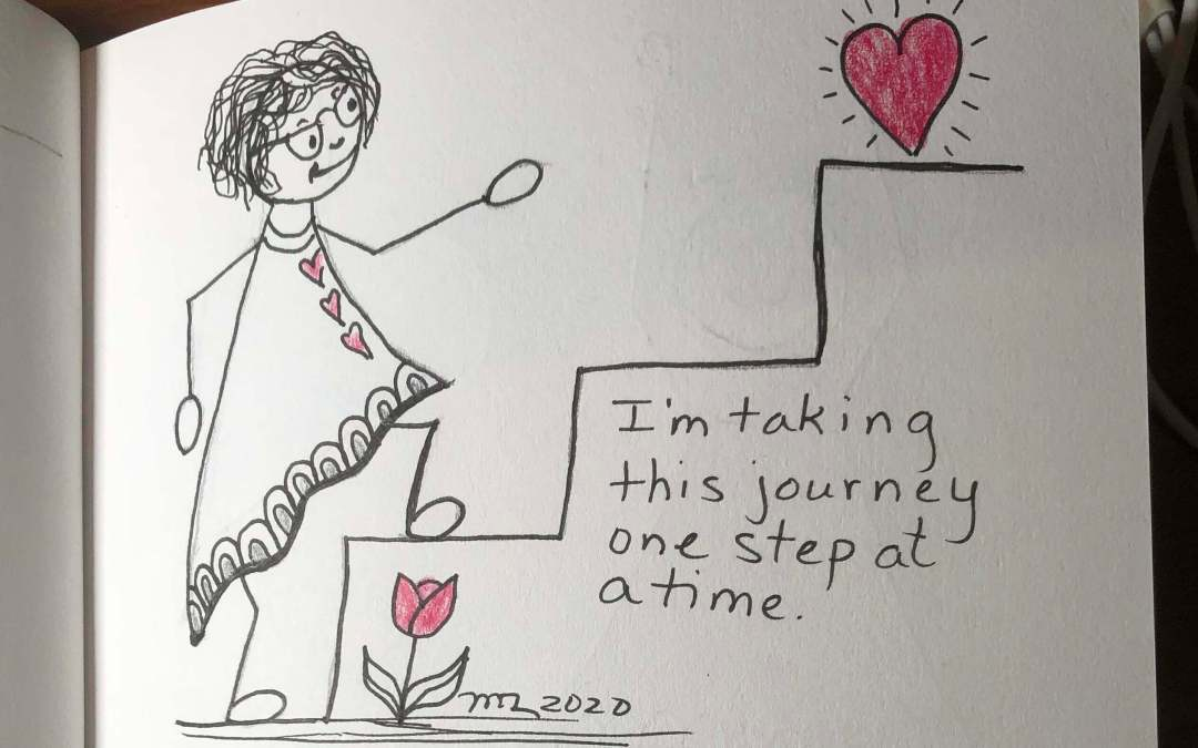 Day 8 of 100 days of positive self-talk: one step at a time
