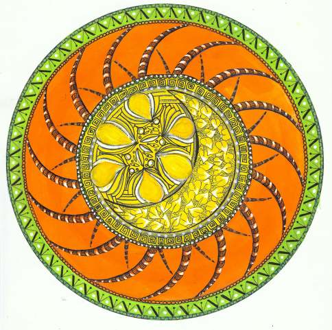 mandala art, zentangle, sacred circle, exploring cirlces