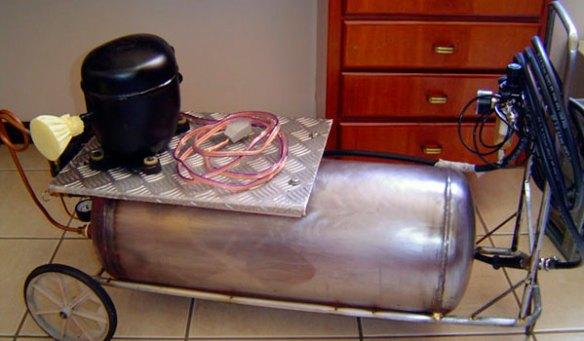 Compressor de Ar com Motor de Geladeira