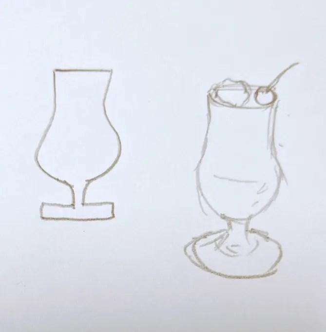 クリームソーダのミニチュアをレジンで作ります①原型をエポキシパテで製作