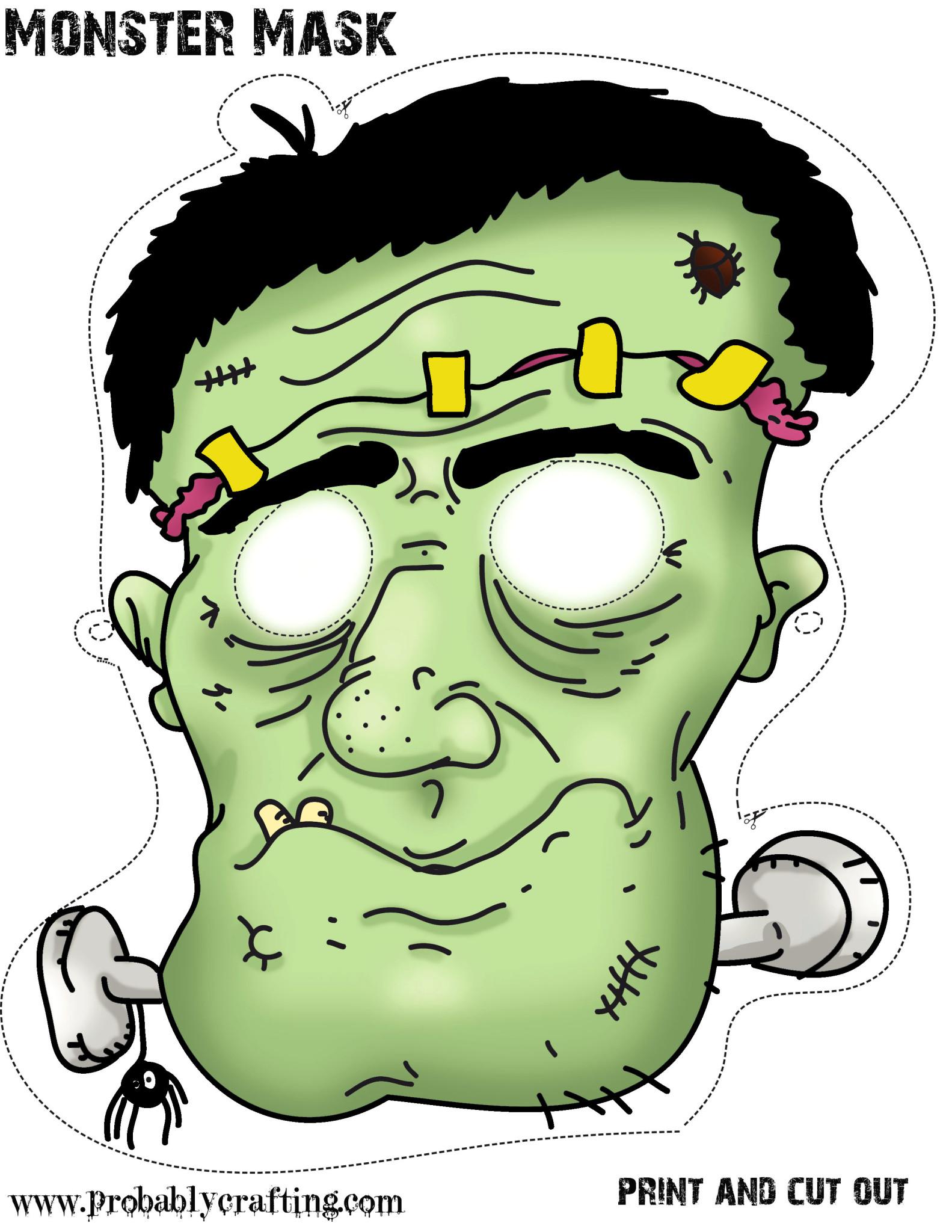 Free Printable Halloween Monster Mask Miniature Masterminds