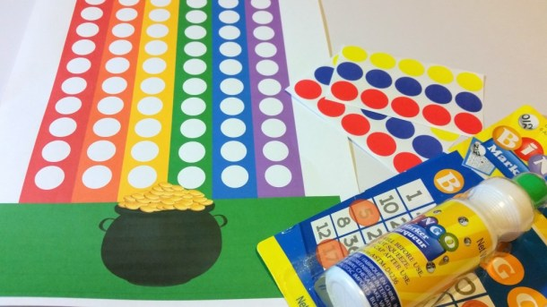 Rainbow Do a Dot Printable Activity