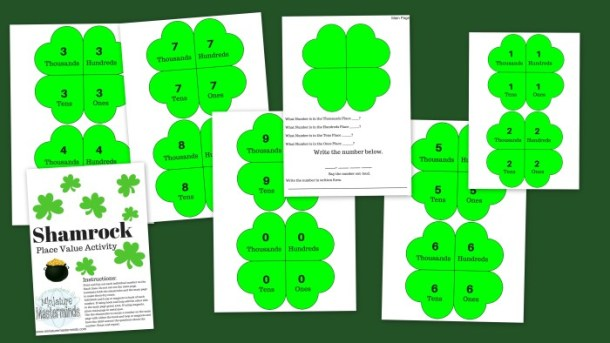 Shamrock Place Value Practice Free Printable Activity