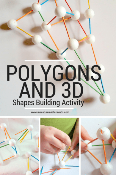 Polygons And 3D Shapes Building Activity