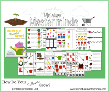 How Do Your Flowers Grow? Free Printable Garden Preschool Pack
