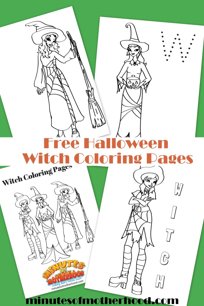 Free Halloween Witch Coloring Pages
