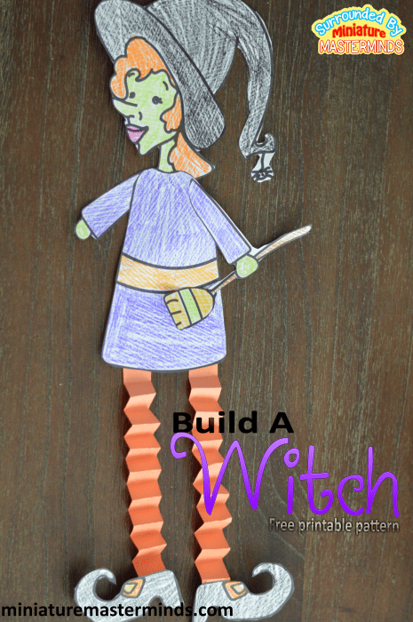 Build A Witch Pattern Free Printable Halloween Craft From Miniature Masterminds