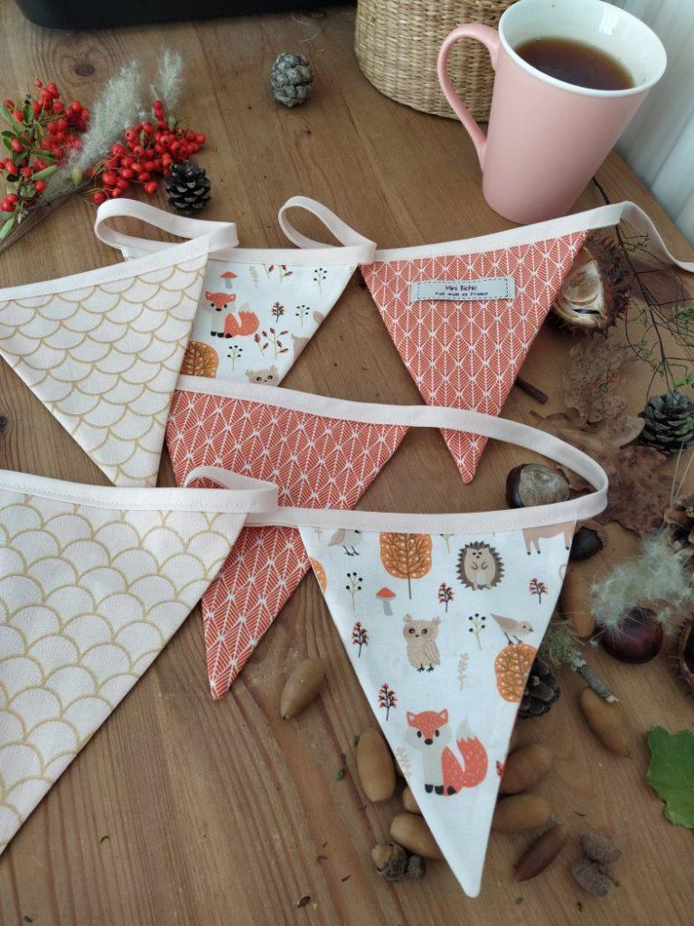 guirlande-de-fanions-automne-renards-orange-coton