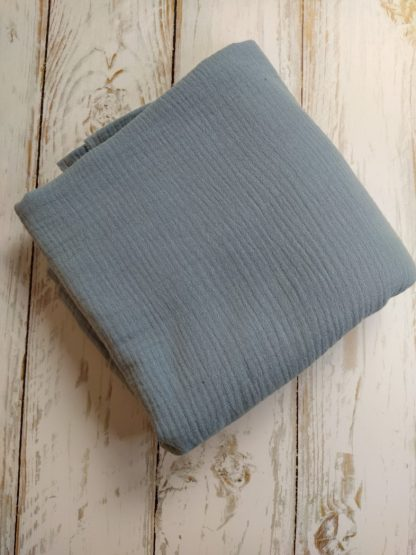 tissu-double-gaze-coton-bleu