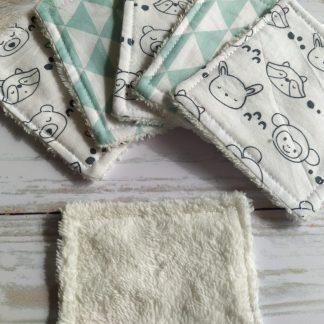 bebe-lingettes-lavables-bambou-coton-ecru-animaux