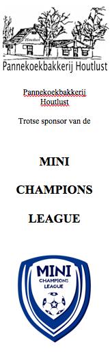 Hoofdsponsor Mini Champions League