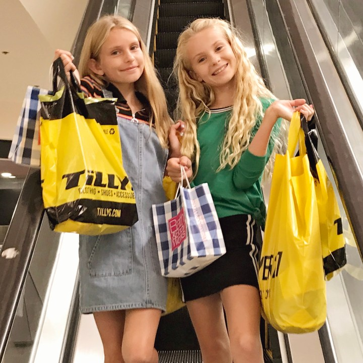 Back to School Tween Shopping