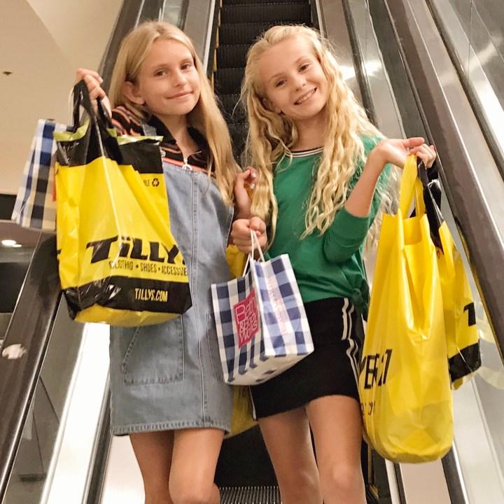 Back to School Tween Shopping