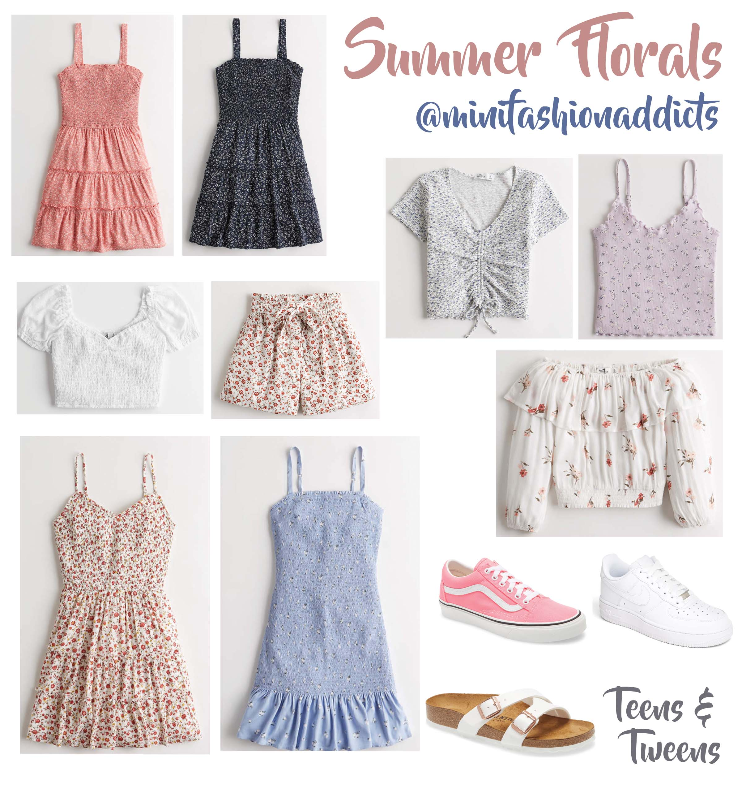 Summer Florals Teens and Tweens