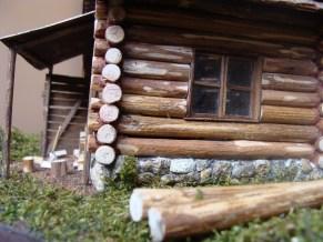 coliba lemn - detaliu