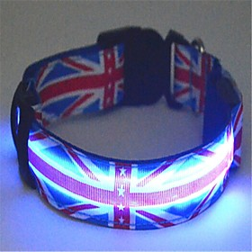 Cat / Dog Collar LED Lights Blue Nylon