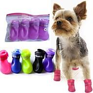 Todas las Estaciones - Azul / Rosado / Negro / Amarillo / Morado - A Prueba de Agua - Plástico - Calcetines y Botas - Perros - M / S / L
