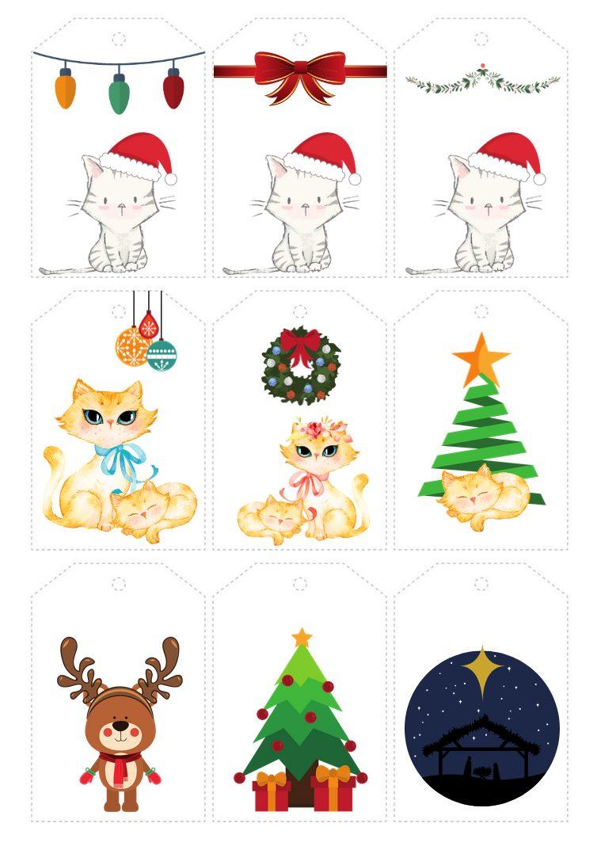 Geschenkanhänger für Weihnachten, miniKatz