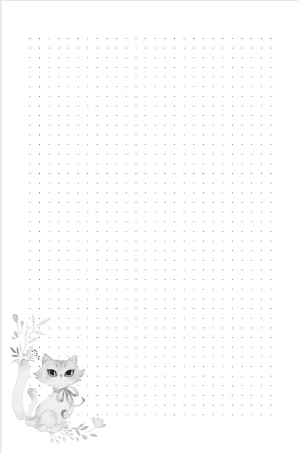 Beispiel Innenseite Notizbuch miniKatz Papers