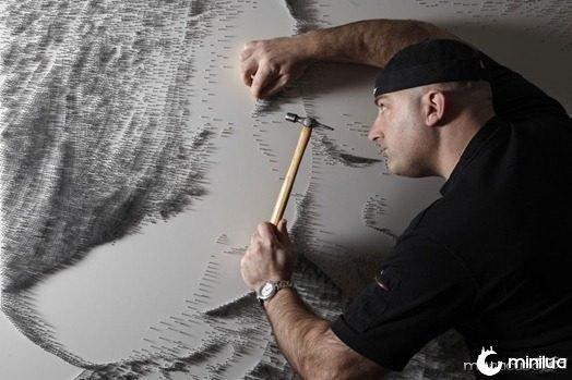 arte com pregos