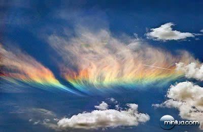 most bizarre phenomenon fire rainbow in Idaho