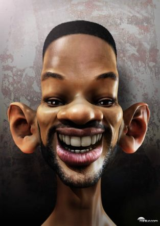 Caricature of Will Smith