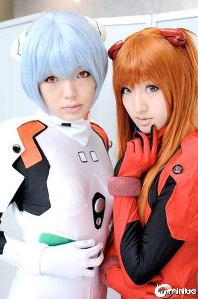 Evangelion___Rei_and_Asuka_by_AsturCosplay