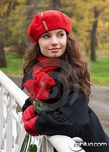 romantic-girl-with-roses-thumb7982757
