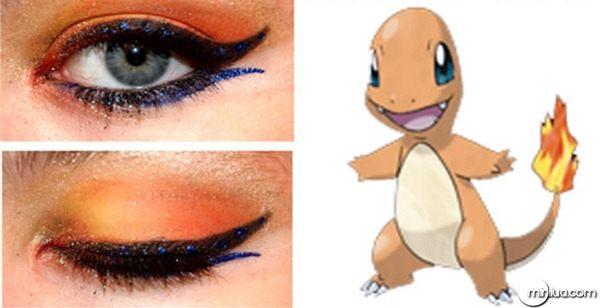 maquiagem-para-os-olhos-pokemon-make-charmander
