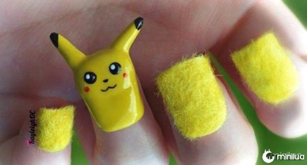 unhas-com-Pikachu