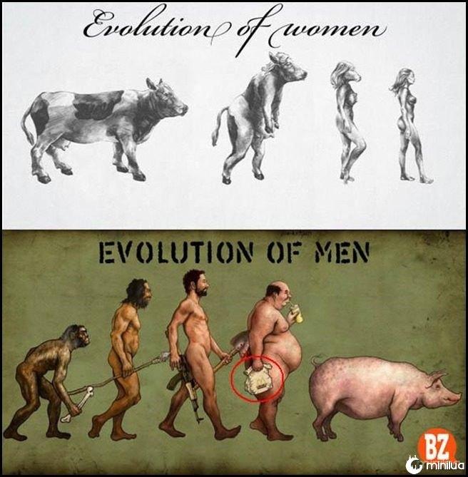 evolution of men and women