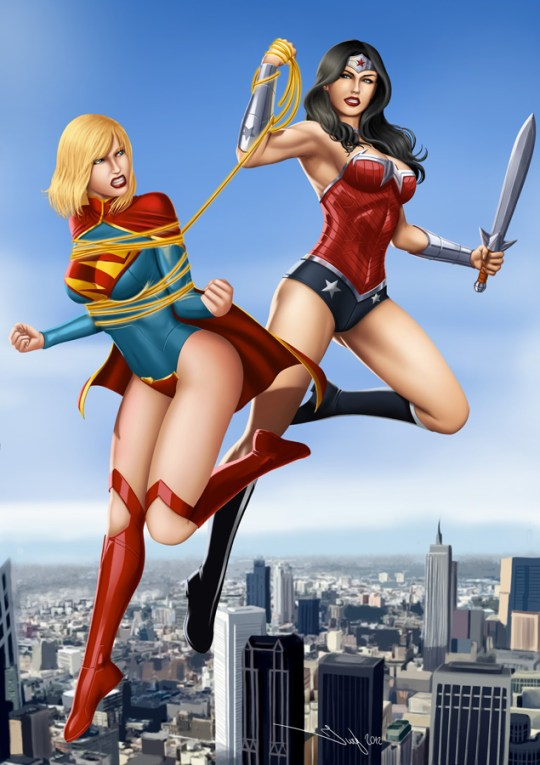 commission__wonder_woman_vs_super_girl_by_iurypadilha-d5gslms