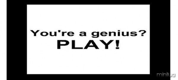 you're a genius