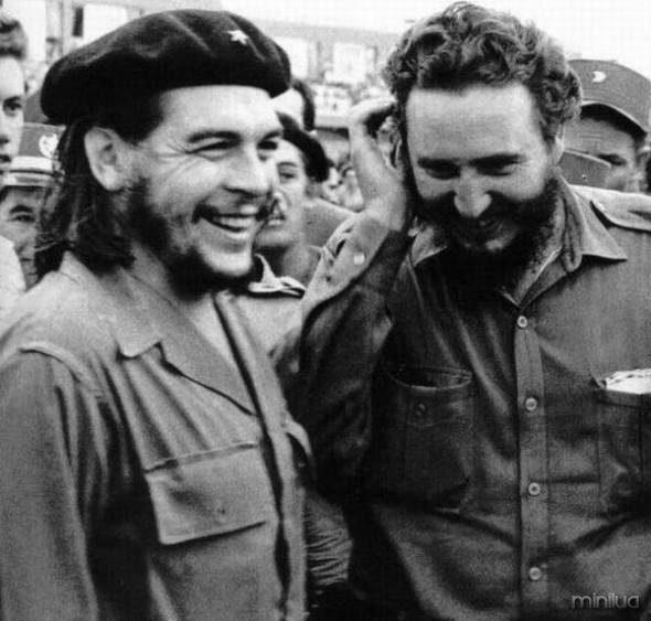 El Che Guevara y Fidel Castro.