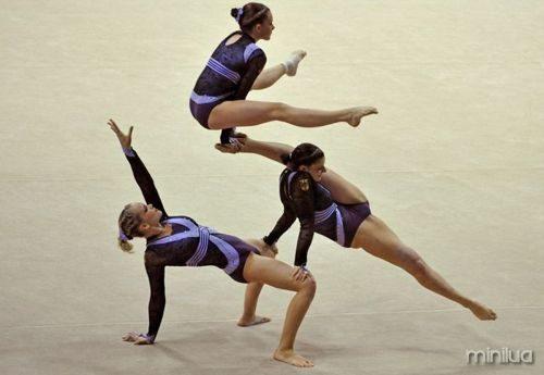 ginastas balanceamento
