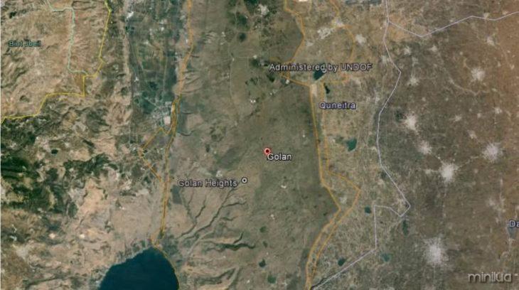 Mapa das Colinas de Golã