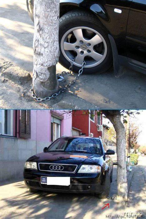 A segurança não roubar seu carro