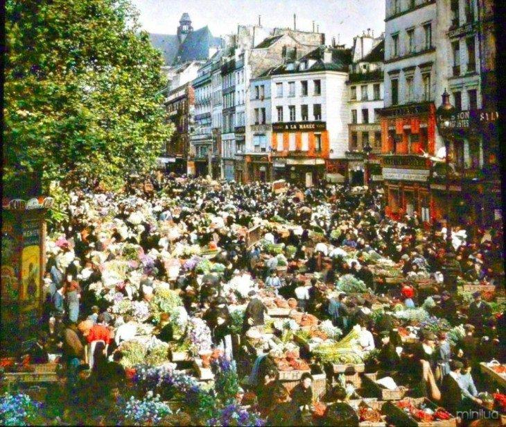 vendedores ambulantes nas ruas de Paris no Século XX