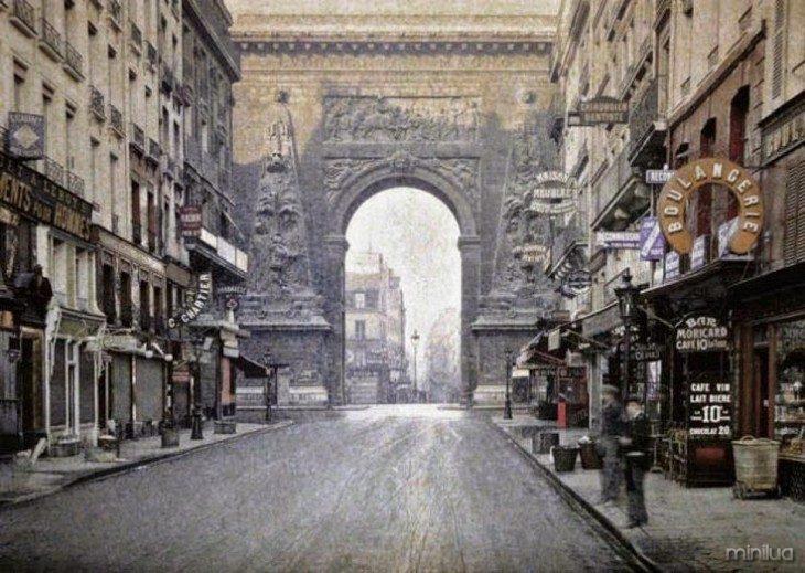 Arquitetura das ruas de Paris em 1914