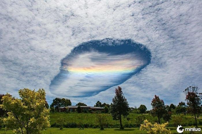 Raro, nuvem, fenômeno, oriental, victoria, austrália
