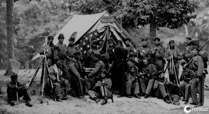 soldados da Guerra Civil usado