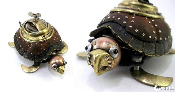 tartaruga feito de lixo Igor Verniy