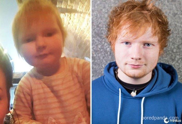 Esta menina de 2 anos de idade parece Ed Sheeran